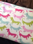 hot dog waverly flamingo fabric