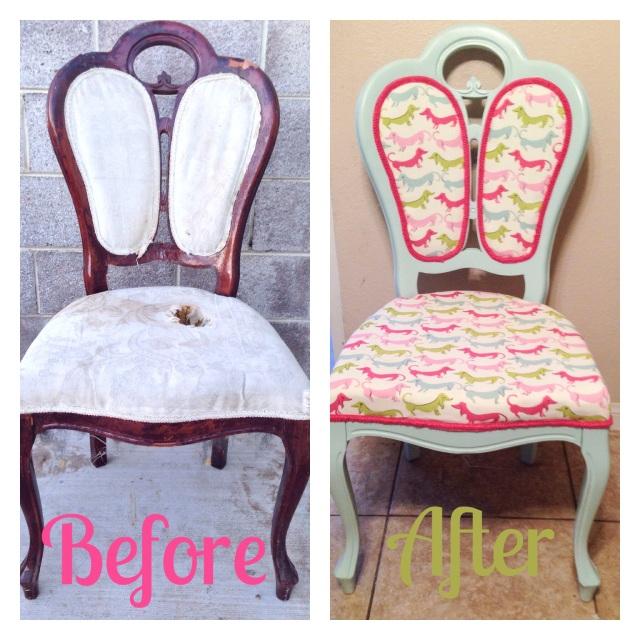 hot dog chair before and after