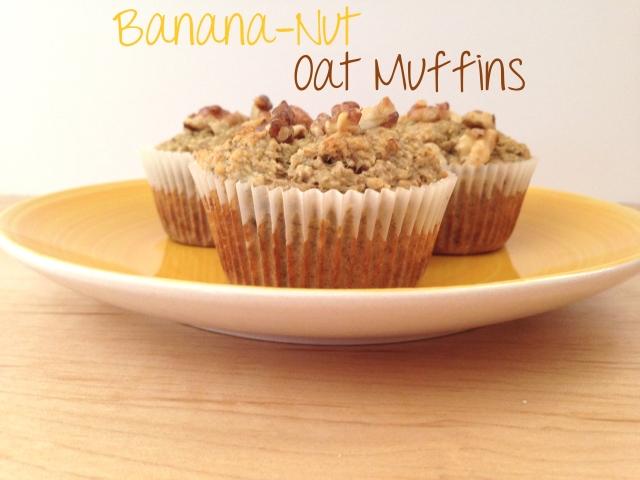 banana nut oat muffins
