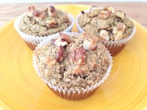 banana nut oat muffins2