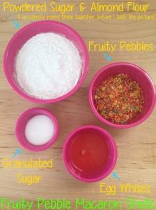 fruity pebble macaron shells