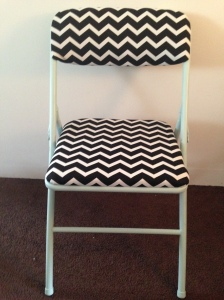 Reupholstered Chevron Folding Chair